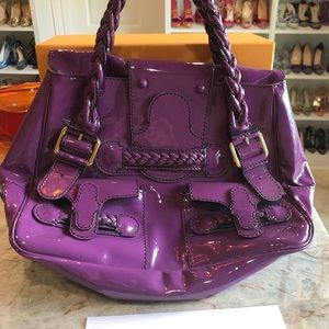 Purple Valentino Shopper in patent leather
